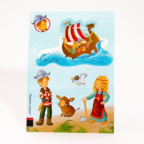 Aufkleber Postkarte